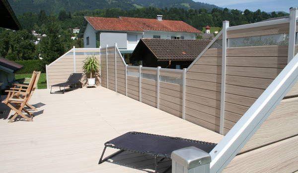 profi wood fence and steel frame